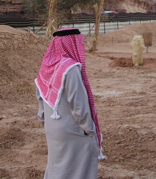 Бедуин в арафатке